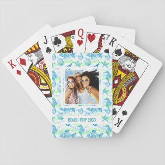 Ajoutez votre motif | marin nommé de croquis jeu de cartes