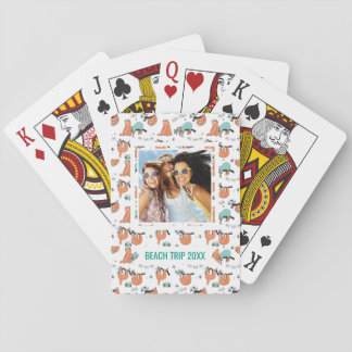 Ajoutez votre motif | mignon nommé de paresse jeu de cartes