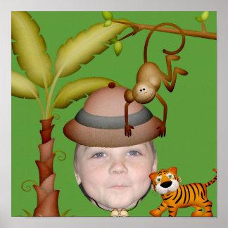 Ajoutez votre photo à un thème sauvage de safari poster