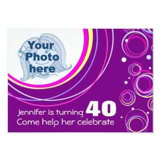 Ajoutez votre pourpre génial d'invitation carton d'invitation  12,7 cm x 17,78 cm
