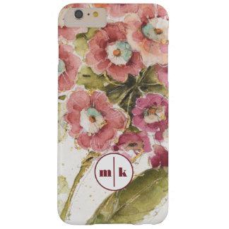 Ajoutez votre primevère rose du monogramme | coque iPhone 6 plus barely there