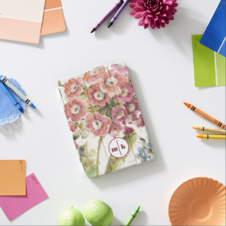 Ajoutez votre primevère rose du monogramme | protection iPad mini