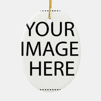 Ajoutez votre propre image ornement ovale en céramique