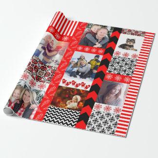 Ajoutez votre propre montage de patchwork de Noël Papiers Cadeaux Noël