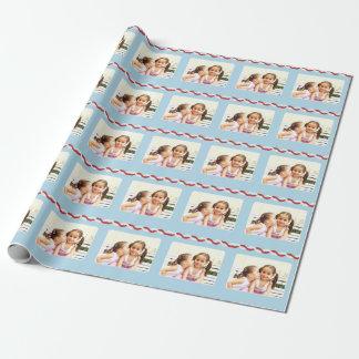 Ajoutez votre propre photo papiers cadeaux noël