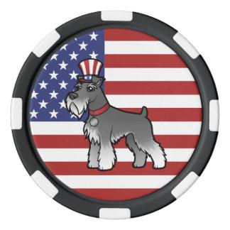 Ajoutez votre propres animal familier et drapeau rouleau de jetons de poker