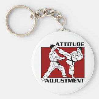 Ajustement d'attitude porte-clé rond