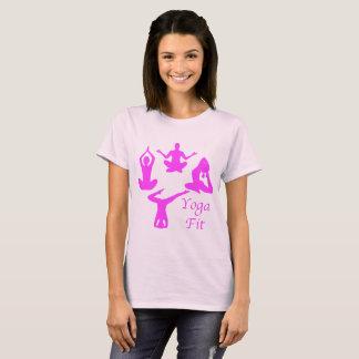 Ajustement de yoga de chemise de yoga t-shirt