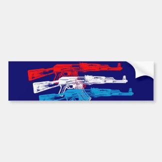 AK 47, rouge, blanc et bleu Autocollant De Voiture