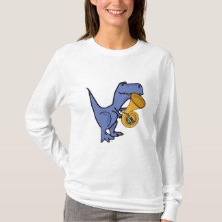 AK- dinosaure de T-Rex jouant la chemise de cor de T-shirt