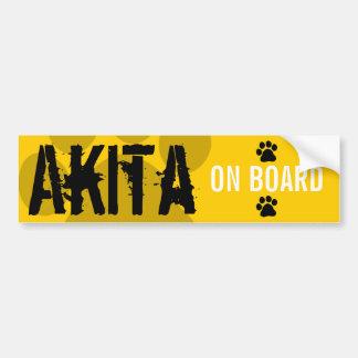 Akita à bord autocollant pour voiture