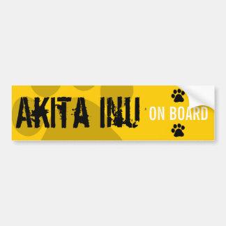 Akita Inu à bord Autocollant Pour Voiture