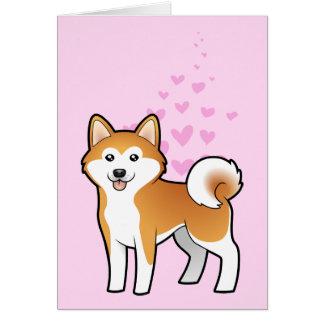 Akita Inu/amour de Shiba Inu Carte De Vœux