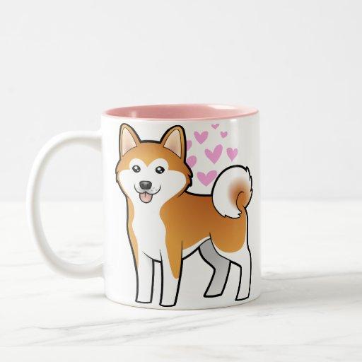 Akita Inu/amour de Shiba Inu Mugs