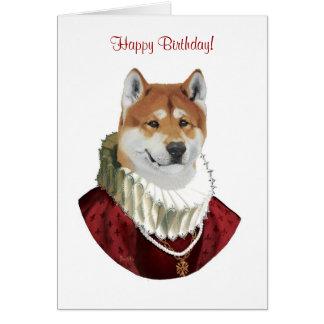 Akita, joyeux anniversaire ! carte
