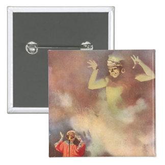 Aladdin vintage et le génie de la lampe, Godwin Badge Carré 5 Cm
