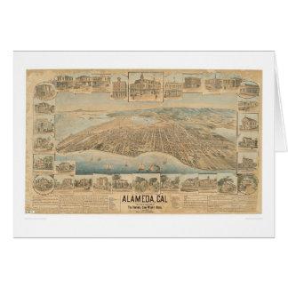 Alameda, carte panoramique de CA (0540A)