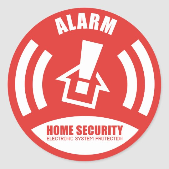 Alarm sticker warning security home