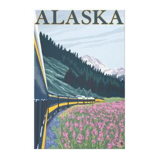 AlaskaRailroad et voyage vintage de Fireweed Toiles