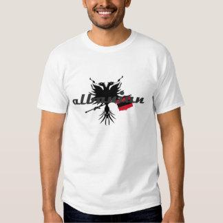 Albanais avec Eagle et le drapeau T-shirts