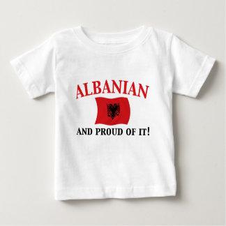 Albanais fier t-shirt pour bébé