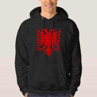 Albanais rouge Eagle Sweatshirt À Capuche