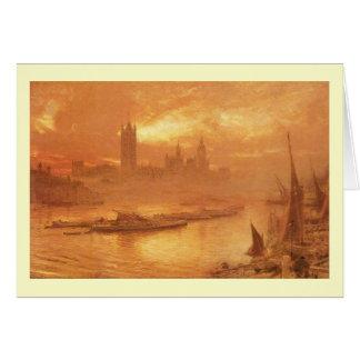 Albert Goodwin, Westminster, art victorien Carte De Vœux