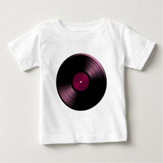 Album de disque vinyle dans le rose t-shirt pour bébé