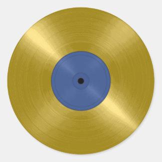 Album record d'or sticker rond