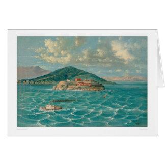 Alcatraz dans la Baie de San Franciso (1856A) Carte De Vœux