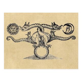 Alchimie d'oiseau de Hermes Cartes Postales