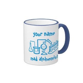 Alchimiste fol personnalisé mug ringer
