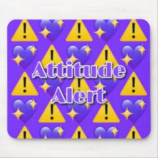 Alerte d'attitude Mousepad (pourpre) Tapis De Souris