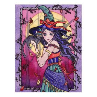 Alessa - carte postale gitane de sorcière