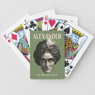 Alexandre - l'homme qui sait - cartes de jeu jeux de poker