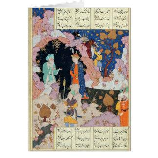 Alexandre rend visite à un ermite carte de vœux
