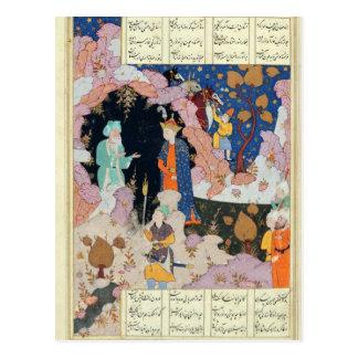 Alexandre rend visite à un ermite cartes postales
