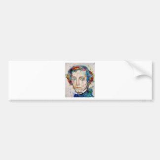 Alexis de tocqueville - portrait d'aquarelle autocollant de voiture