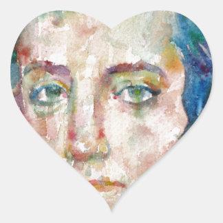 Alexis de tocqueville - portrait d'aquarelle sticker cœur