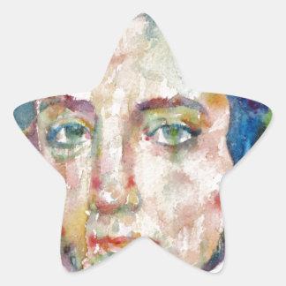 Alexis de tocqueville - portrait d'aquarelle sticker étoile