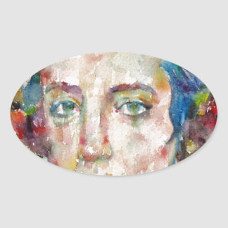 Alexis de tocqueville - portrait d'aquarelle sticker ovale