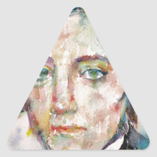 Alexis de tocqueville - portrait d'aquarelle sticker triangulaire