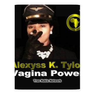Alexyss K. Tylor Vagina Power™ sur Nubia vrai TV Cartes Postales