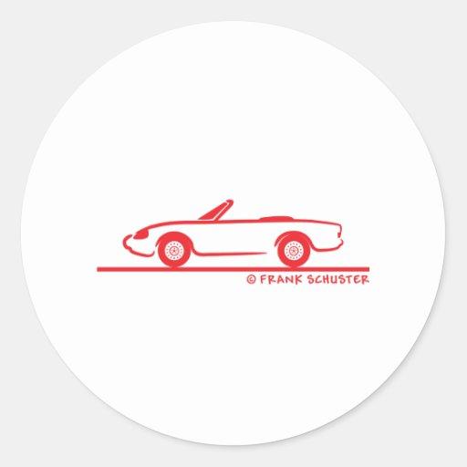 Alfa Romeo Spider Duetto Adhésif Rond