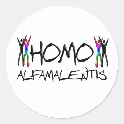 Alfamale homo autocollants ronds