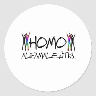 Alfamale homo sticker rond