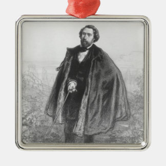 Alfred de Musset Ornement Carré Argenté