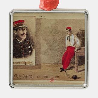 Alfred Dreyfus en tant que prisonnier, 1894-1906 Ornement Carré Argenté