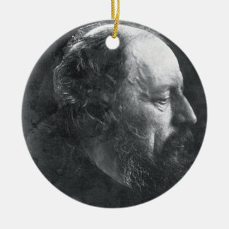 Alfred, seigneur Tennyson (1809-92) c.1868 (P.R. Ornement Rond En Céramique