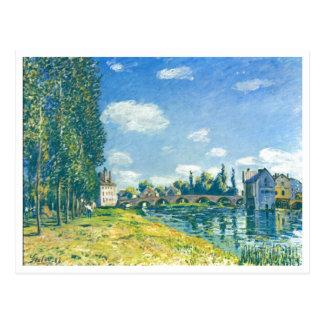 Alfred Sisley - Brücke von Moret im Sommer 1888 Cartes Postales